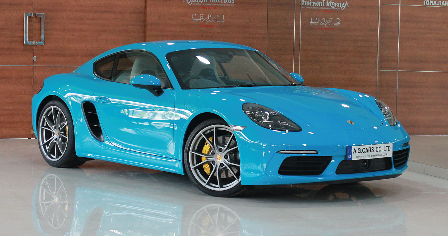 Porsche 718 Cayman Miami Blue