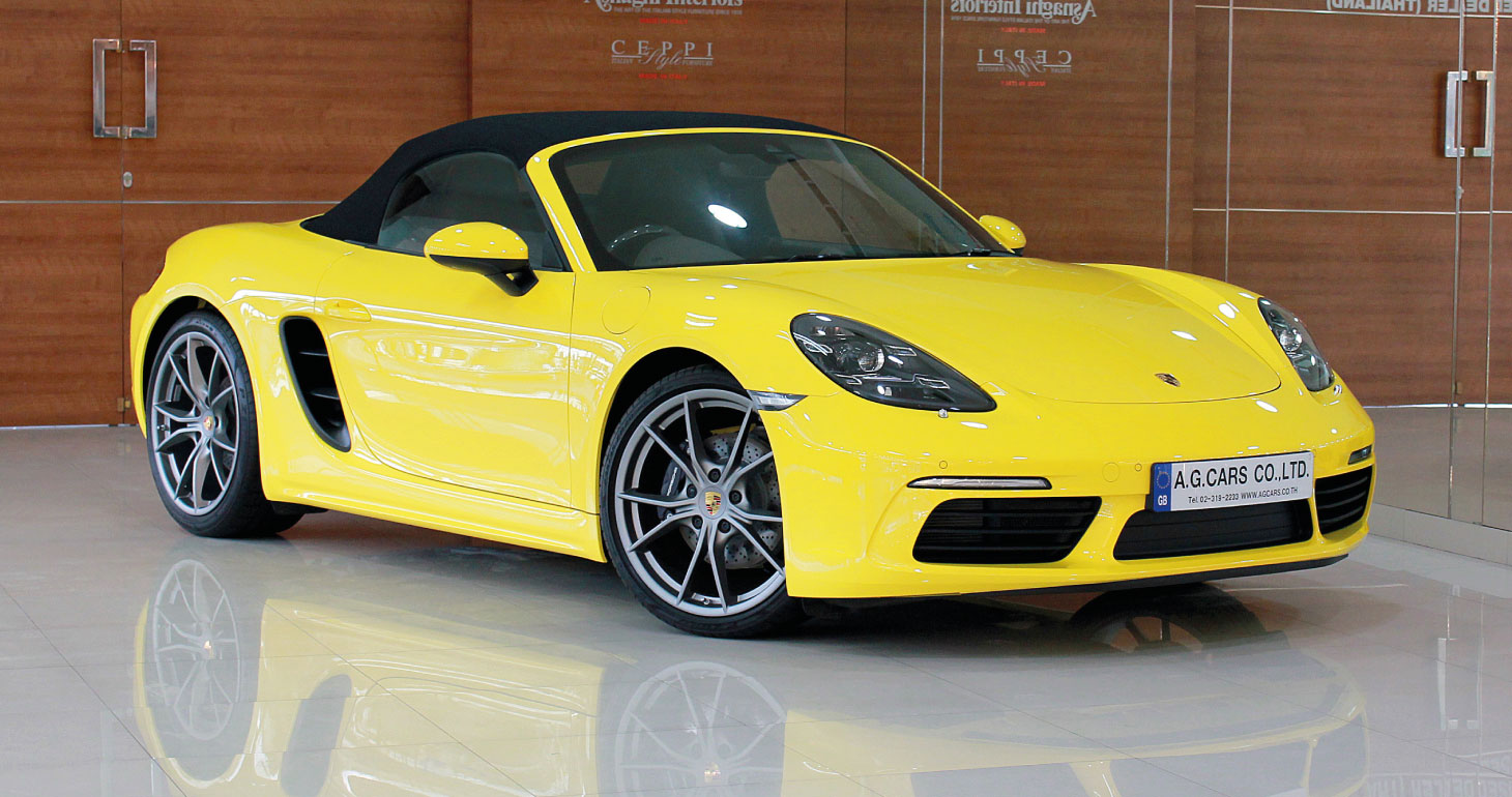 Porsche 718 Boxster Racing Yellow